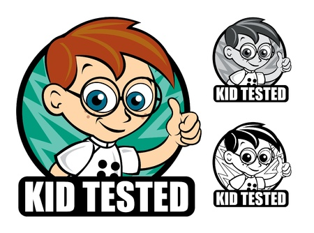 Kid Tested Scientist Seal / Mark / Icon  Stock Vector - 9674459