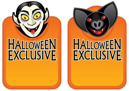 Halloween Exclusive Character Labels  Vector