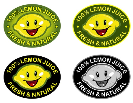 Lemon Fresh & Natural Seal in vectors  Vector