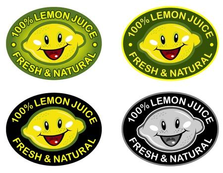 Lemon Fresh & Natural Seal in vectors Stock Vector - 9674551