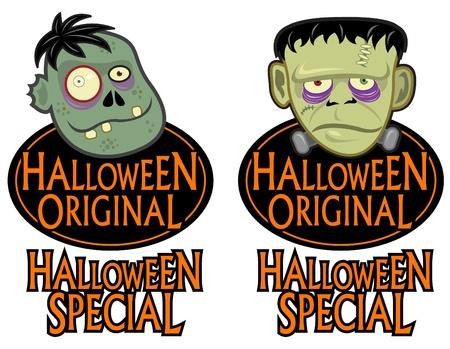 Halloween Original Character Seals  Vector