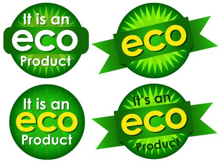 Eco Product Seals Stock Vector - 9674474