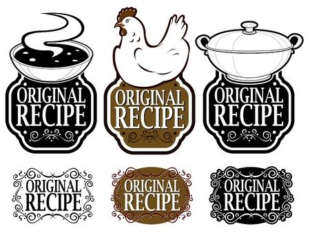 Original Recipe Seals Collection  Stock Vector - 9674549
