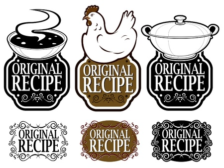cooking icon: Original Recipe Seals Collection  Illustration