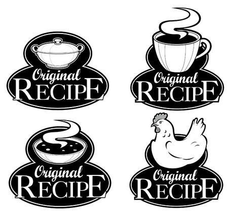 Origineel recept Seals Collection Stock Illustratie