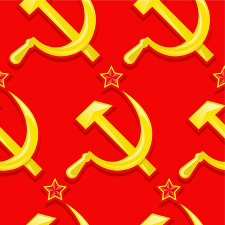 Sovietic Seamless Pattern / Wallpapaer Stock Vector - 9674626