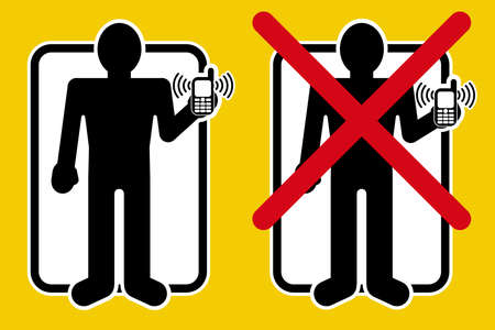disturbing: YES  NO Permitted talk by mobile devices Illustration