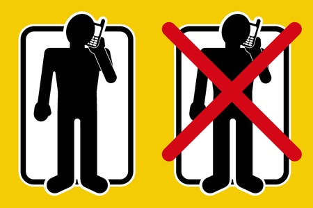 disturbing: YES  NO Permitted listening music by mobile devices Illustration