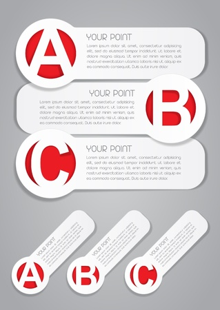 ABC etiquetas progreso iconos vectoriales Vectores