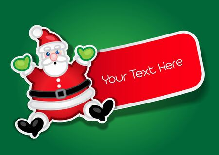 Santa Claus vector Sticker   Label Stock Vector - 13619980