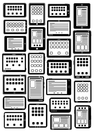 Tablet PC icons in vectors Vector