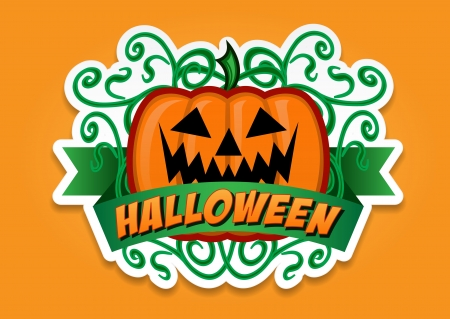 Halloween Pumpkin Vector Sticker Vector