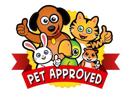 PET aprobado Sello Ilustración de vector