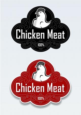 Kippenvlees Seal  Sticker Stock Illustratie
