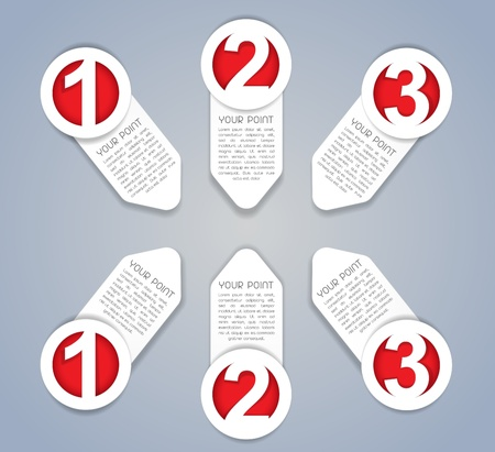 Een, Twee, Drie vooruitgang pictogrammen in White