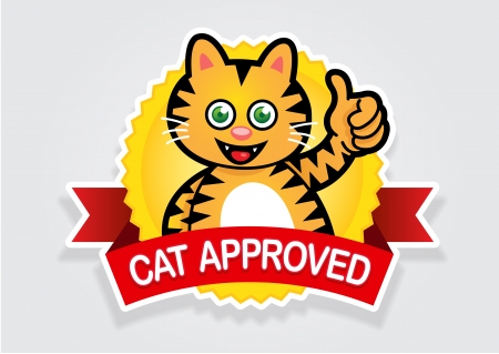 Cat Approved Seal  Sticker Vector