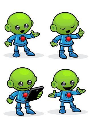 Alien Character Vector