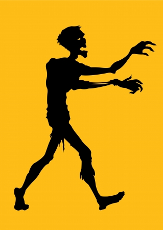 halloween cartoon: Zombie Silhouette