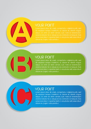 ABC Labels Vector
