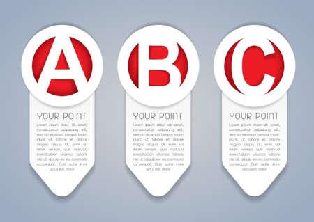 ABC vertical progress icons in White Stock Vector - 13694520