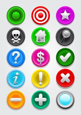 important information: Gps  Icons  Buttons Collection Illustration