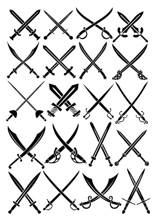 Crossed Swords  Stock Vector - 13694508
