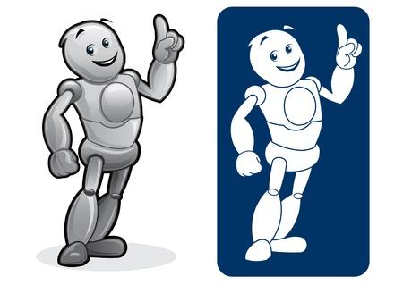 Robot Character Stock Vector - 13694516