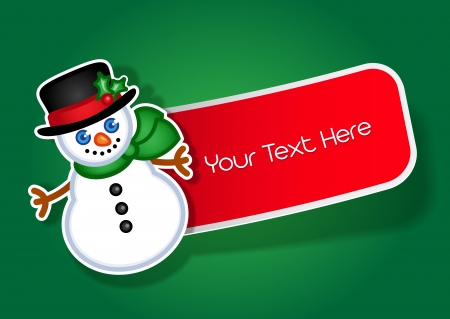 Christmas Snowman sticker   label Vector