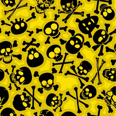 Skull Crossbones Naadloze Patroon