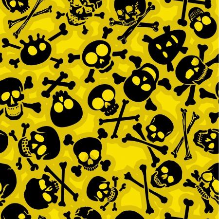 Skull   Crossbones  Seamless Pattern