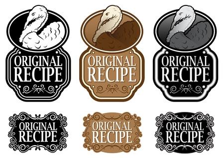 Original Recipe Turkey vertical versions Stock Vector - 13694526