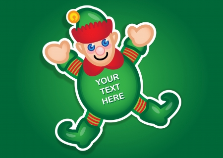 Santa s Elf sticker Vector