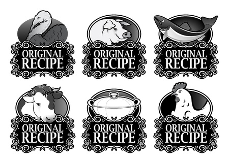 Original Recipe Royal Collection in Black Vector