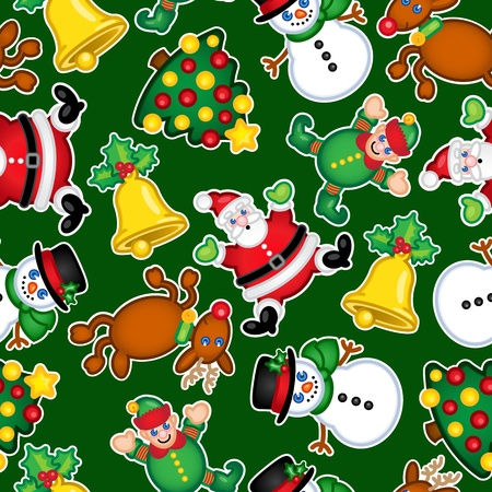 Christmas Characters Seamless Pattern Stock Vector - 13694573
