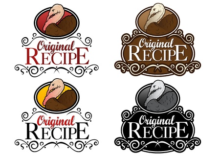 Original Recipe Turkey Seals Vector