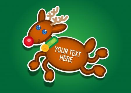 Christmas Reindeer Vector Sticker Vector
