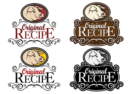 Original Recipe Pork Seals Stock Vector - 13731745