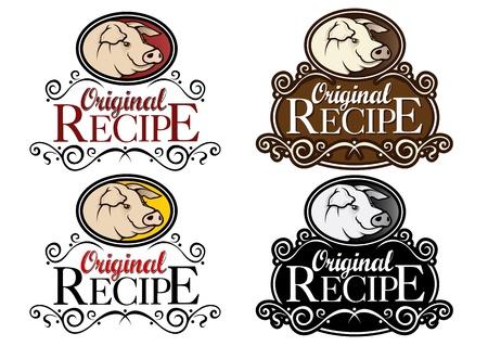 Original Recipe Pork Seals Illusztráció