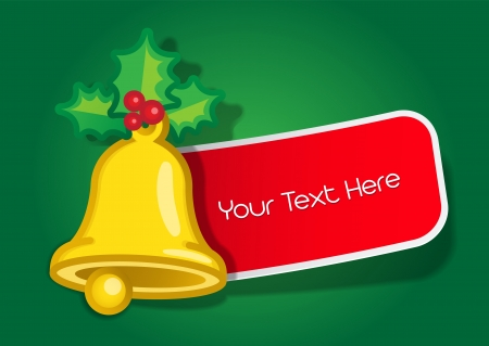 Christmas Bell Message Label Stock Vector - 13751577