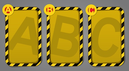 ABC warning label set  Vector