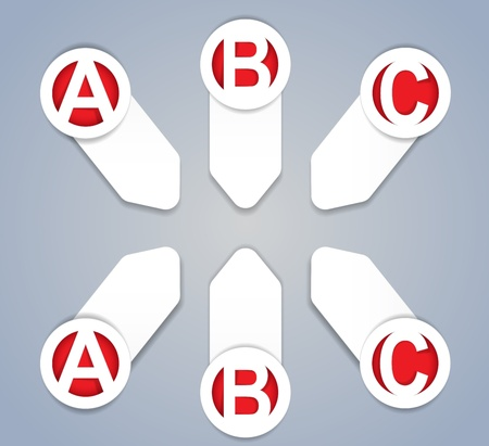 ABC progress icons in White Vector
