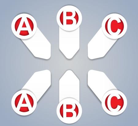 ABC progress icons in White Stock Vector - 13769466