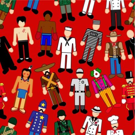 principal: Classic Characters seamless pattern