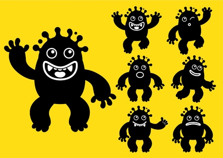 Ink liquid monster character Vector