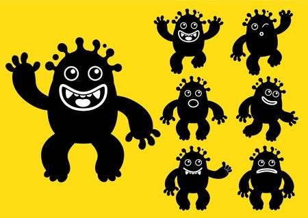 Ink liquid monster character Stock Vector - 13787729