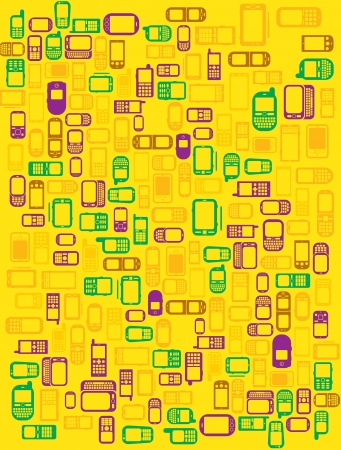 Background made with cellphones and smartphones in Stock Vector - 13834220