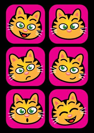 Cat facial expressions Vector