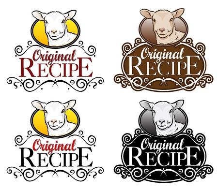 Originele Recept Seal Lam Versie Vector Illustratie