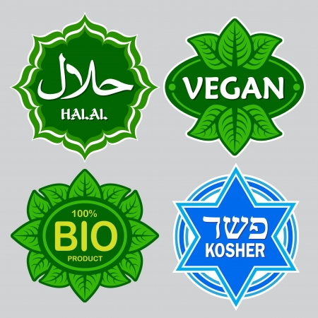 Food Certified Seals Vector