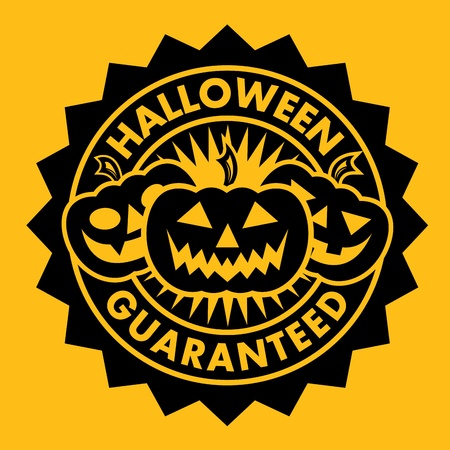 Halloween Guaranteed Pumpkin Seal Vector